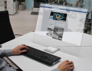 Monitor transparente HTD-01é a fase intermediária para a holografia